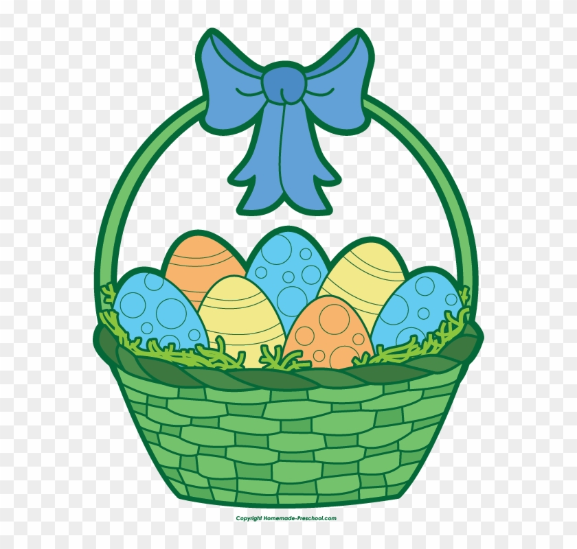 Gift Basket Easter Basket Clip Art - Clip Art #25234