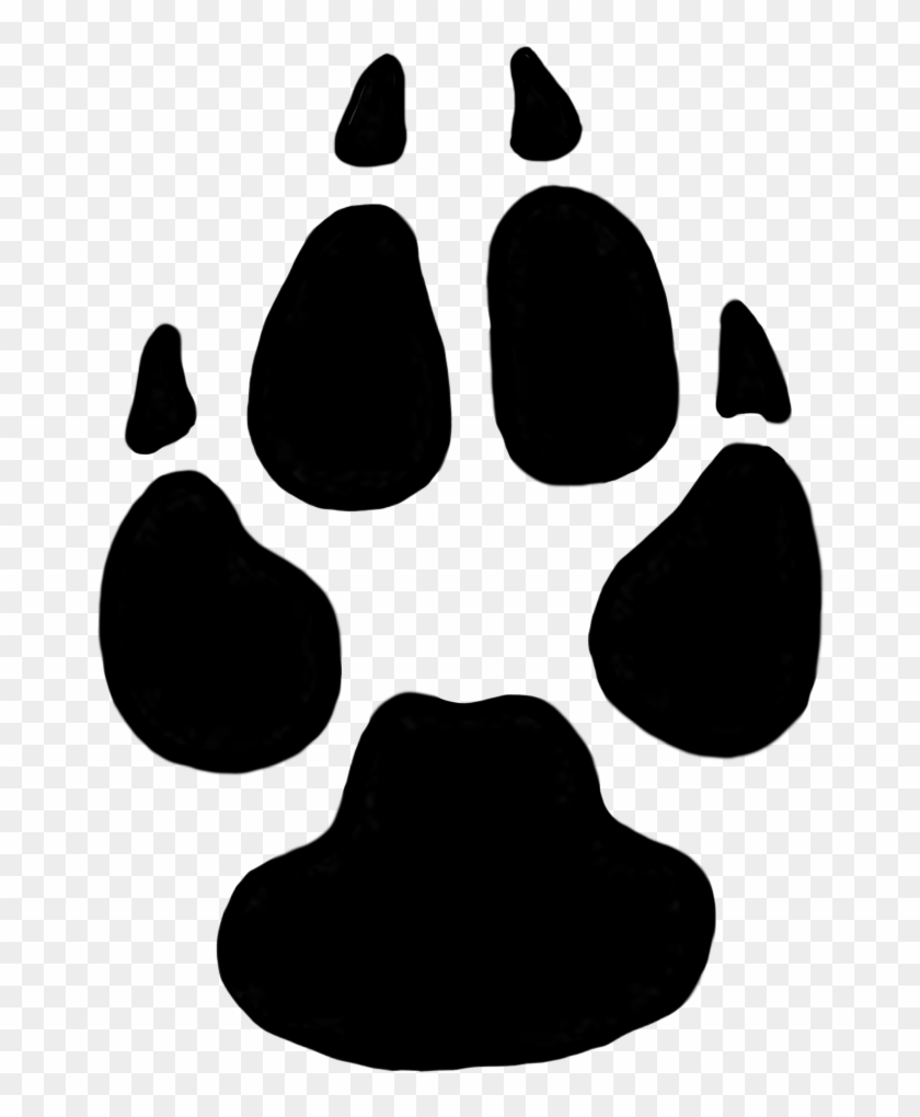 Dog Paw Prints Domestic Dog Cliparts Free Download - Cougar Tracks Vs Wolf Tracks #25267