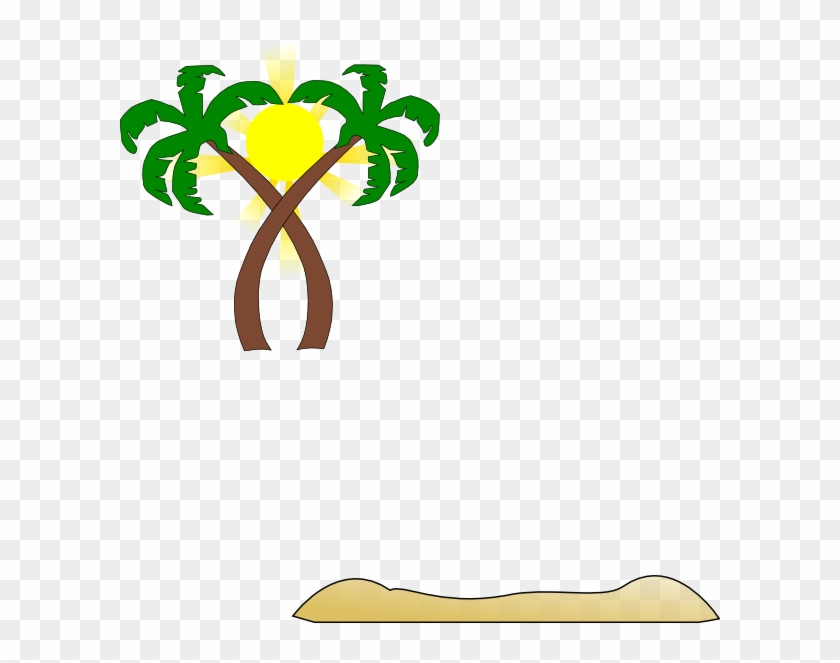 Double Palm Beach Clip Art At Clker - Beach Clip Art #25288