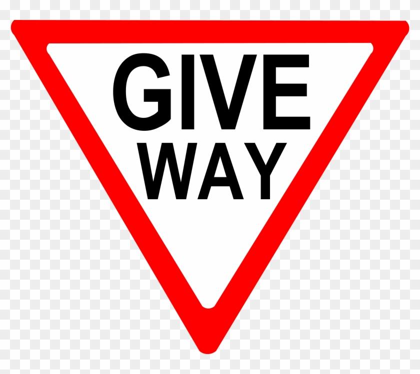 Free Vector Give Way Sign Clip Art - Give Way Sign #25308