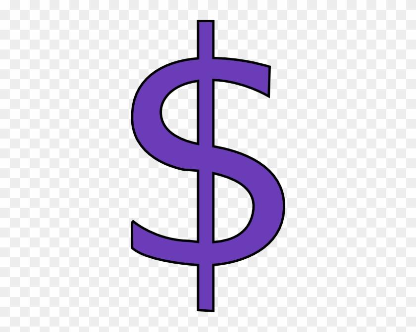 Purple Dollar Sign Clip Art At Clker - Purple Dollar Sign Clip Art #25325