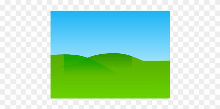 Blank Landscape Clip Art - Cartoon Ground And Sky #25350
