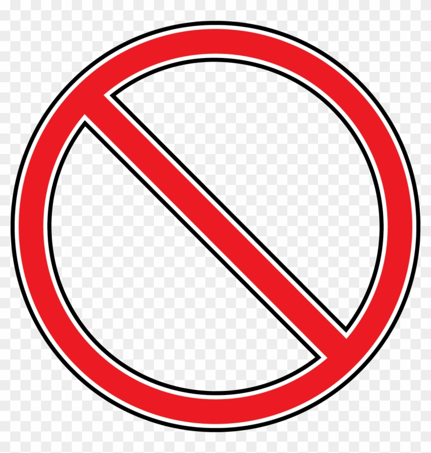 No Symbol Clip Art Clipart Best - Red Circle With Line #25356