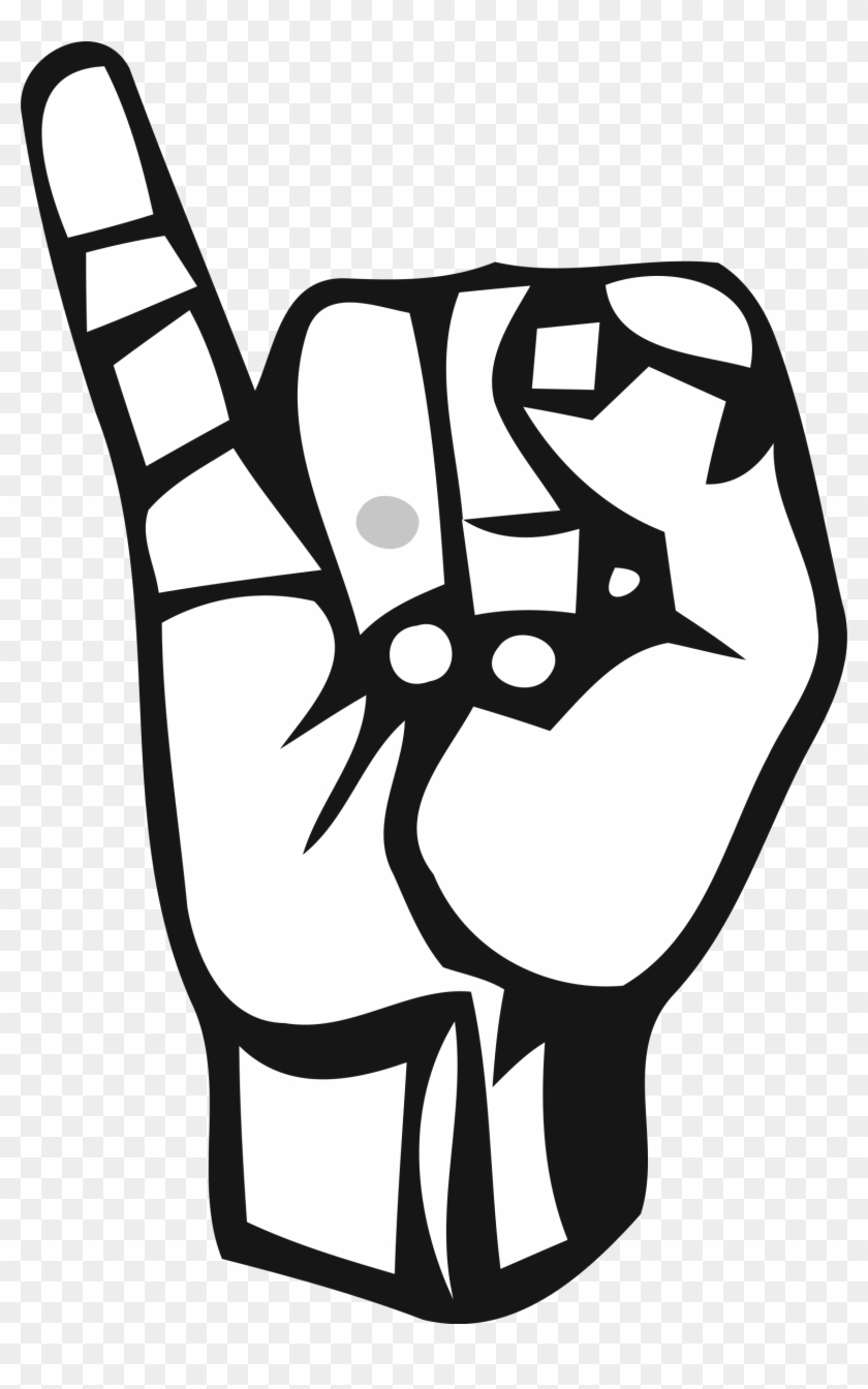 Clipart - Letter I In Sign Language #25362