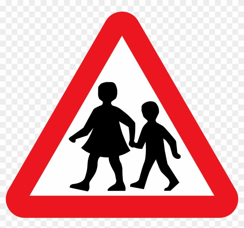Oktober, Haben Wir Schüler Der Flex D Unsere Schulwege - School Zone Traffic Sign #25367