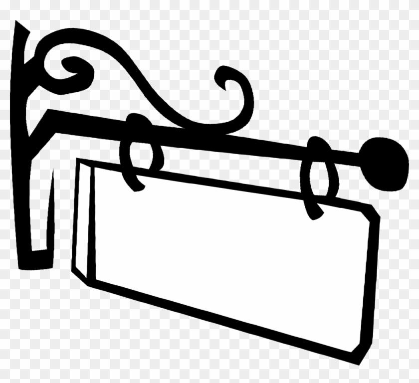 Net Clip Art Gerald G Old Fashioned Hanging Sign Svg - Hanging Sign Vector #25378