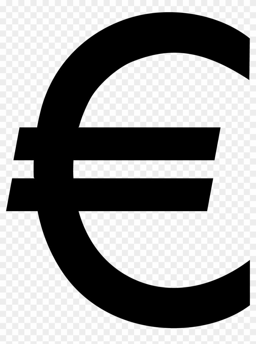 Euro Sign Black Clip Art - Euro Logo Png #25397