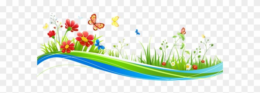Clipart Flowers And Butterflies Png - Flowers And Butterflies Clip Art #25436