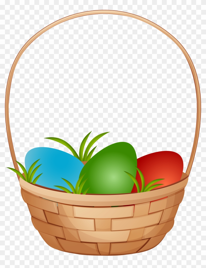 Basket Easter Eggs Clipart #25480