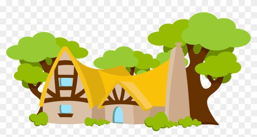 Snow White Baby Clip Art - Snow White House Cartoon #25484