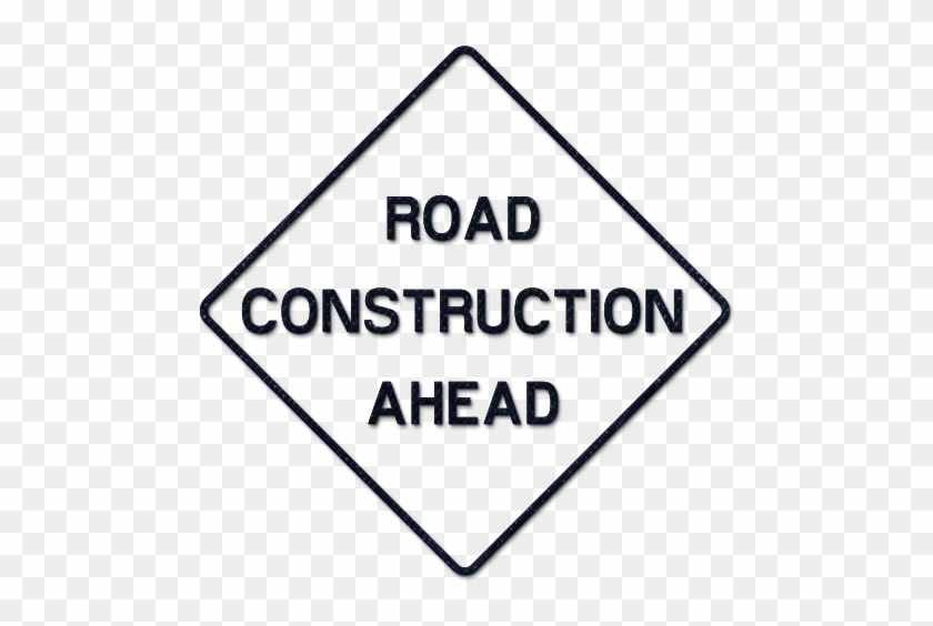 Road Work Ahead Sign Clip Art Clipart Collection - Black And White Road Work Sign #25507