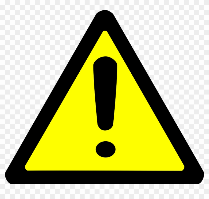 Warning Sign Clipart - Yellow Warning Triangle Icon #25509