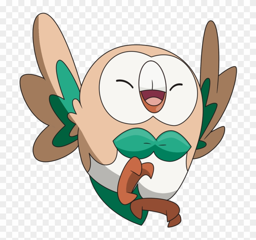 Grass Clipart Pokemon, Free Grass Clipart Pokemon - Rowlet #25532