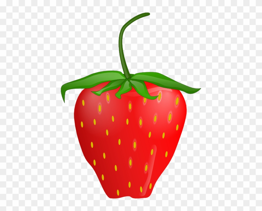 Free Vector Strawberry Clip Art - Strawberry Clip Art #25538