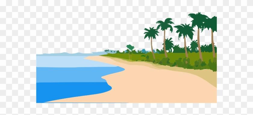 Beach Landscape Ay Clip Art At Clker - Sea Shore Clip Art #25548