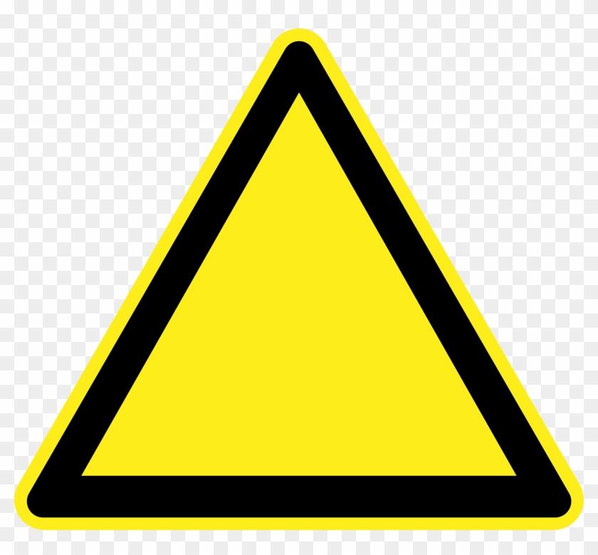 Sign Hazard Warning Clip Art - Blank Warning Sign #25568