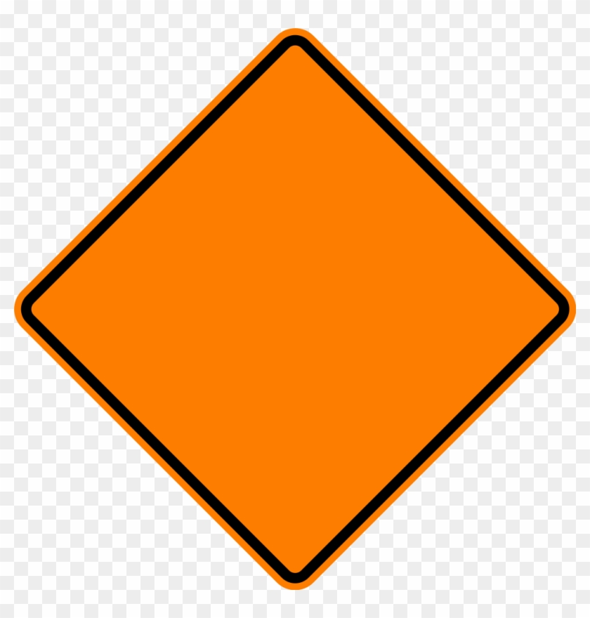 Orange Construction Sign Clip Art At Clipart - Blank Road Construction Signs #25612