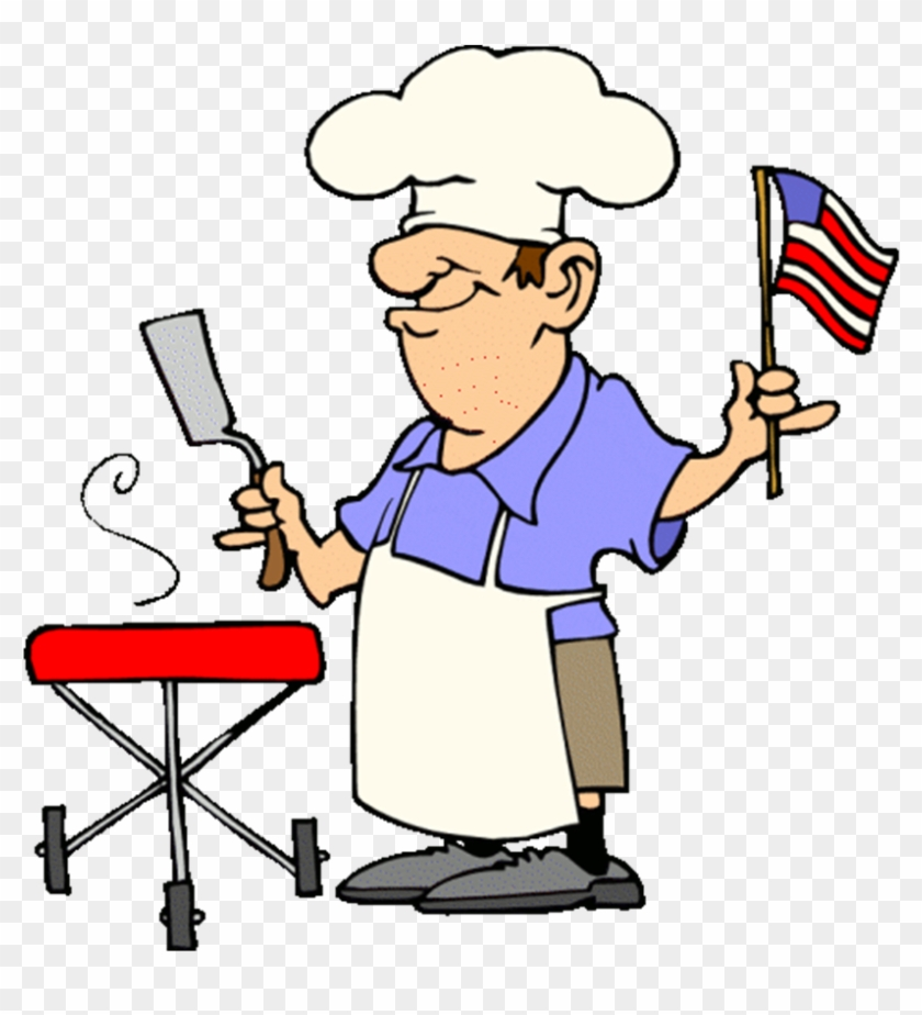 Funny Patriotic Barbecue Guy Free 4th Of July Clipart - 4th Of July Bbq Clip Art #25636