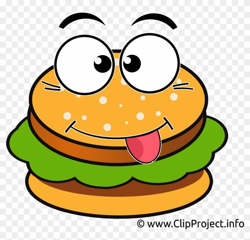 Burger Clip Art - Hamburger Cartoon Clipart #25650