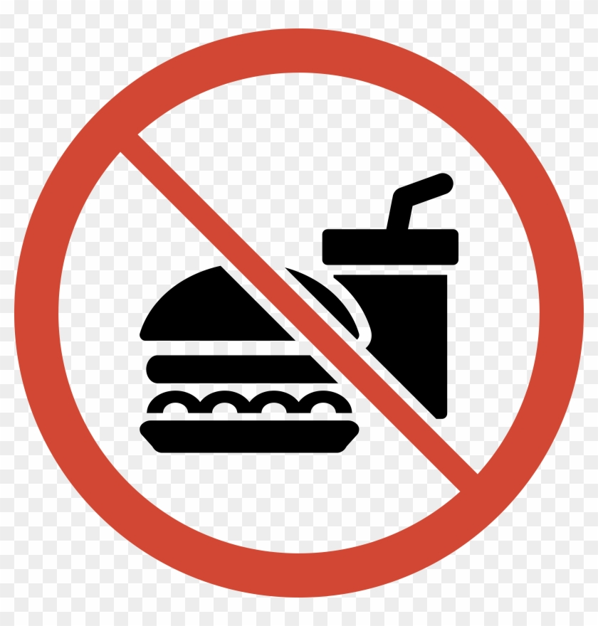 Similar Cliparts - - No Food And Drink Sign #25687
