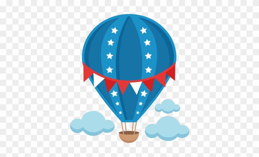 Patriotic Hot Air Balloon Svg Scrapbook Cut File Cute - Hot Air Balloon Clipart Png #25684