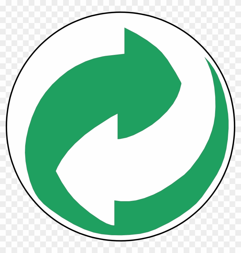 Recycling Symbol Green And White Arrows - Green And White Arrow Logo #25695