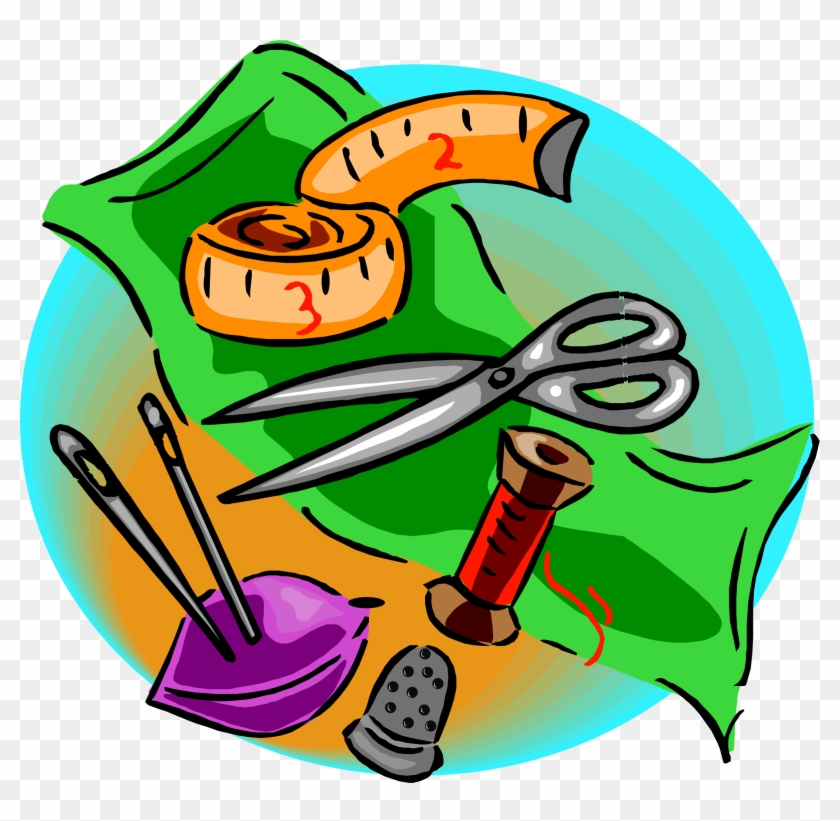 Sewing Tools - Sewing Tools And Equipment Clipart #25717