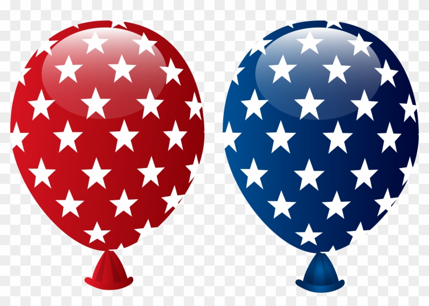 0, - 4th Of July Balloon Clipart #25715