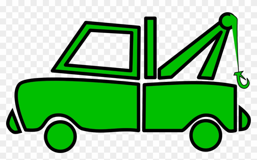 Cartoon Tow Truck Free Download Clip Art On - Green Tow Truck #25747