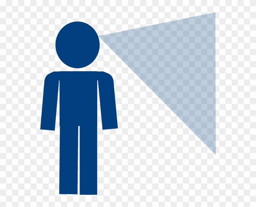 Man Sign Blue Looking Clip Art - Person Looking Clipart #25749