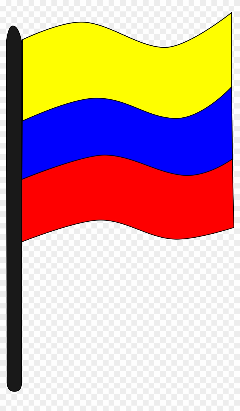 Bandera Colombiana - Bandera De Colombia Clipart #25796
