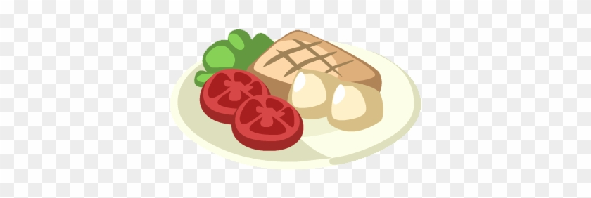 Tuna Steak With Vegetables - Steak And Vegetable Clipart #25811