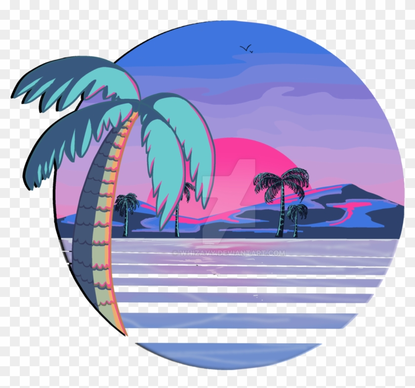 Redbubble By Whizavy Vaporwave Beach - Vaporwave Beach #25848