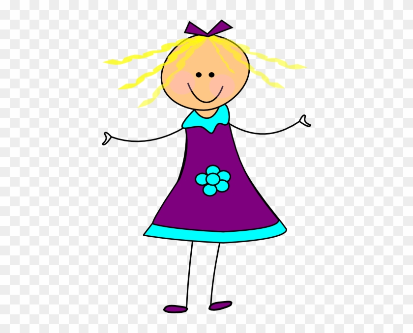 Happy Clip Art With Tools Free Clipart Images 2 2 Clipartcow - Clipart Girl In Dress #25868