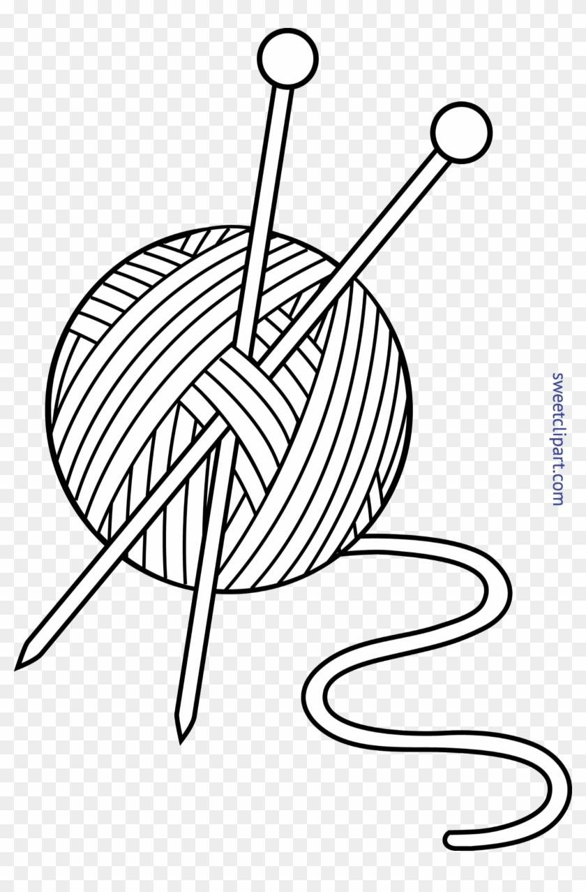 Ball Of Yarn Clipart, Clip Art Of Yard Cleanup, Clip - Wool Black And White #25896
