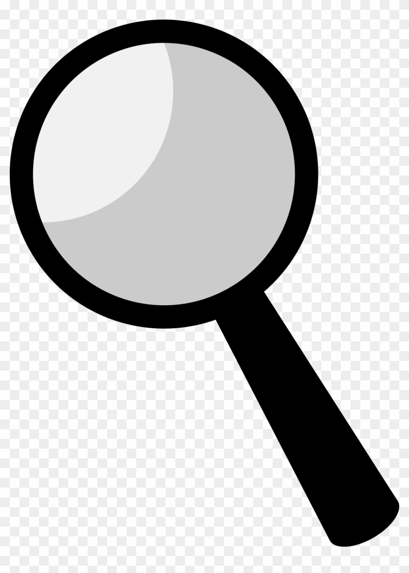 clipart - - magnifying glass black clipart - free transparent png