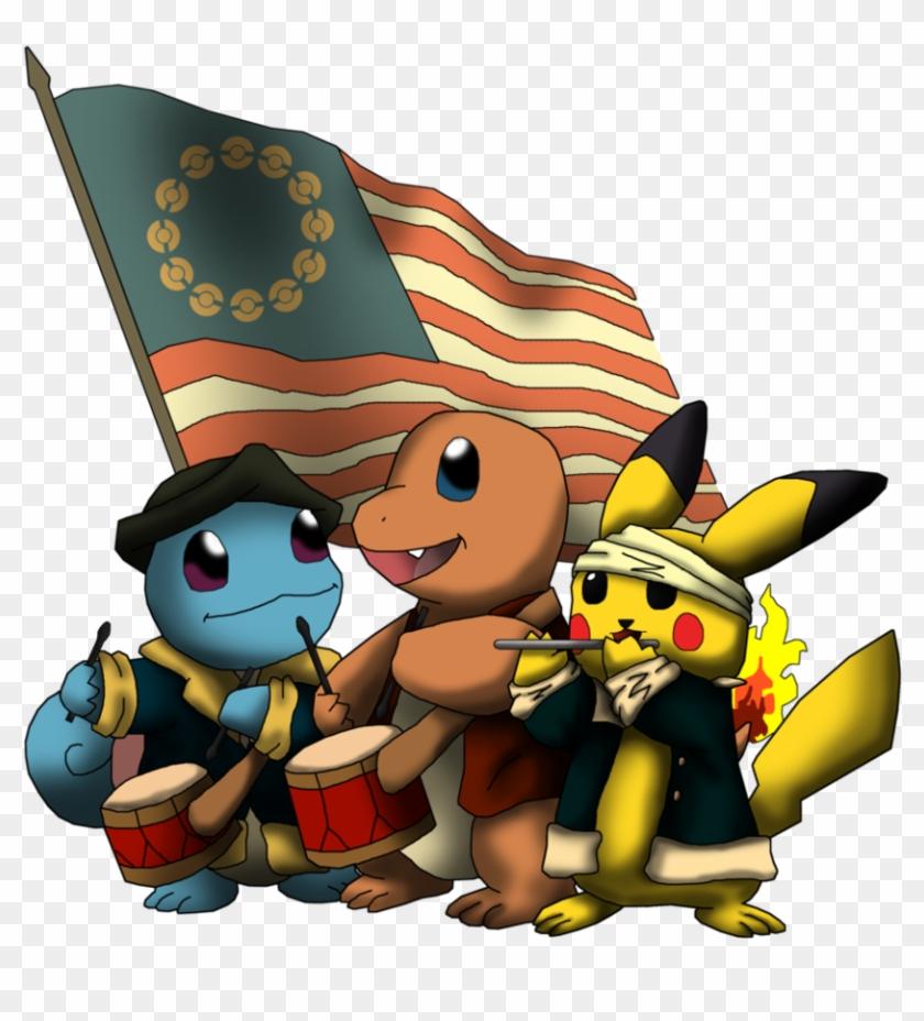 Patriotic Pokemon By Yatagarasu-san - Pokemon 4th Of July #25947