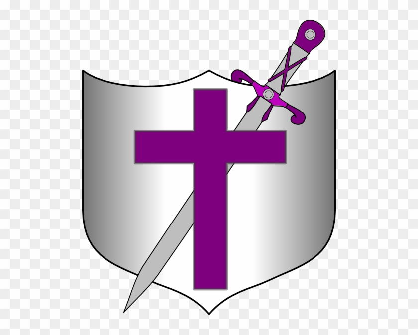 Cross Sword And Shields Clipart - Cross Sword And Shield #25964