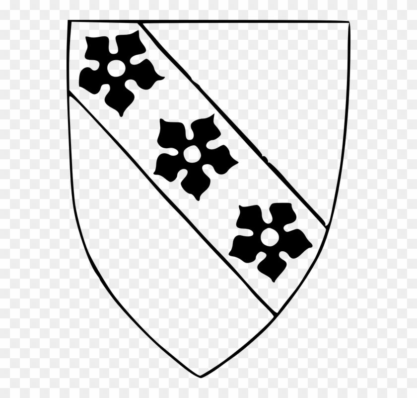 Knight Shield Clipart Black And White #25976
