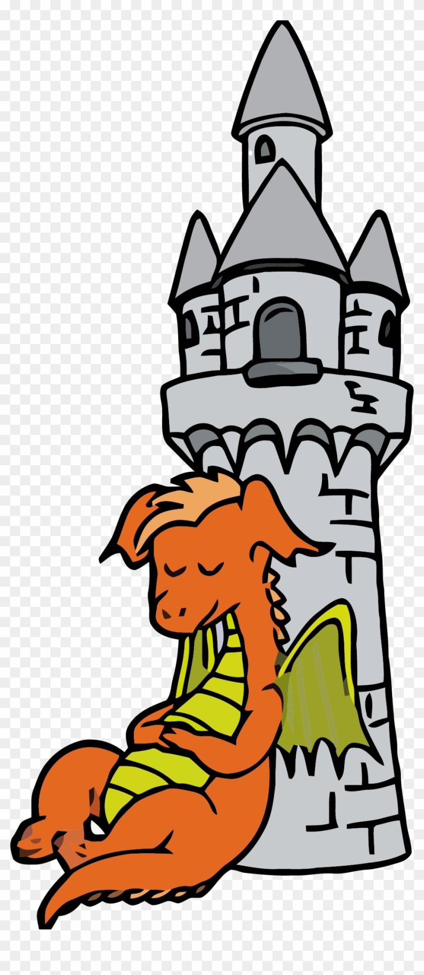 Brave Knight Slaying A Dragon - Clip Art #25992