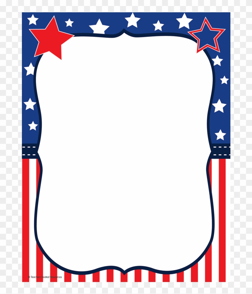 Tcr 5894 Patriotic Computer Paper - 4th Of July Borders Clipart #25995