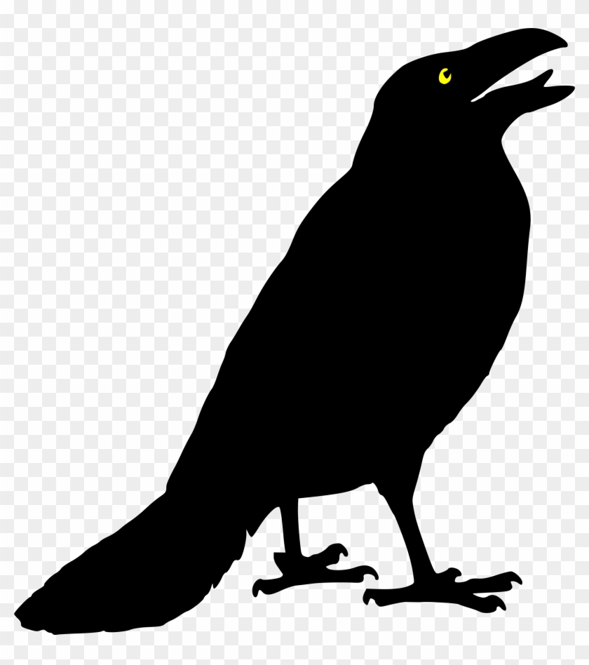 Crow Clip Art Black And White Scarecrow Clip Art Flying - Crow Clip Art #26000