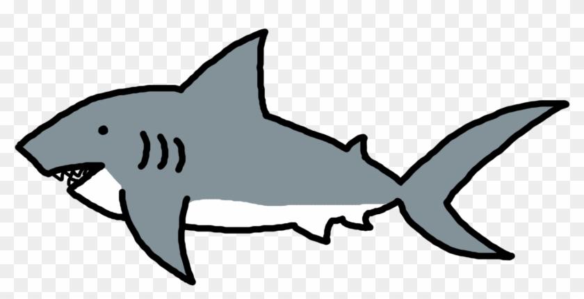 Simple Clipart Shark - Clip Art Shark Black White #25998
