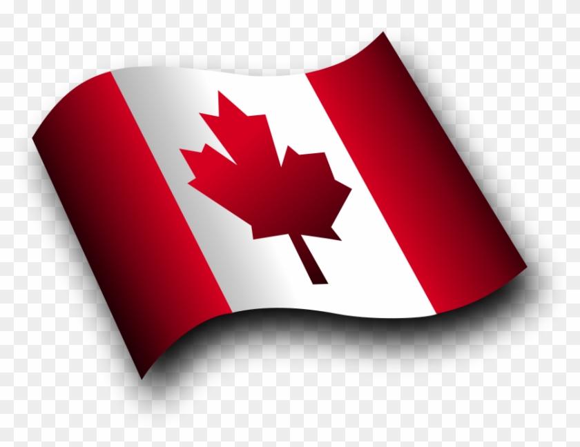 Flag Canada Symbols Clip Art Dromfgp Top - Canada Flag Waving Png #25997