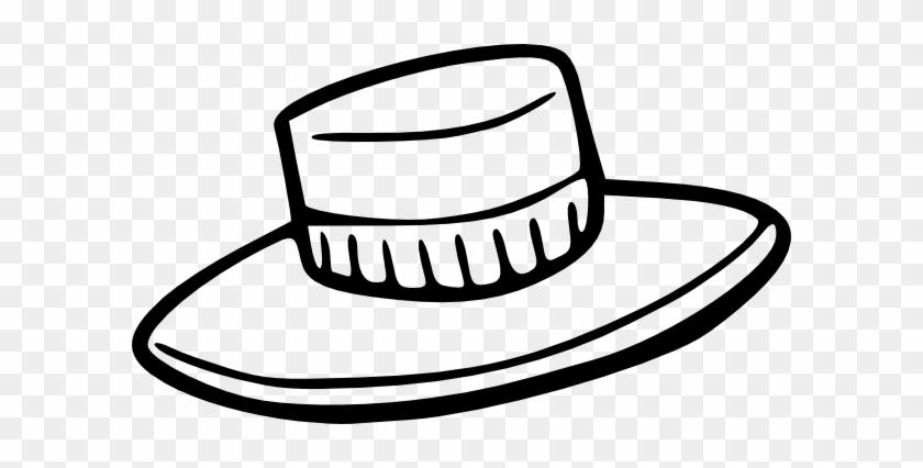 Hat Outline Svg Clip Arts 600 X 346 Px - Clip Art Hat #26005