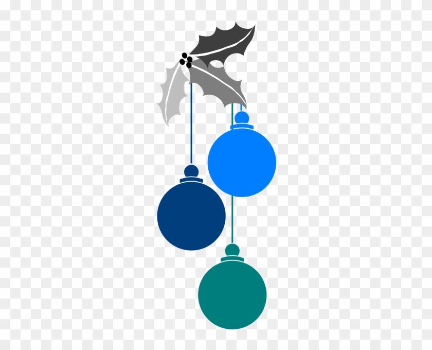 Christmas Dark Blue Ornament Clipart - Blue Christmas Lights Transparent #26052