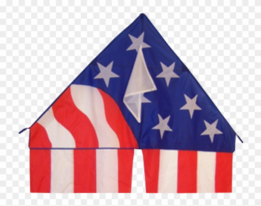 Flo-tail Patriotic Delta Kite - Breeze Patriotic Delta Kite With 19-1/2-feet Flowing #26068