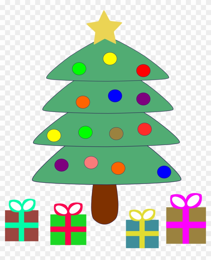 Get Notified Of Exclusive Freebies - Cartoon Christmas Tree With Presents Under #26078