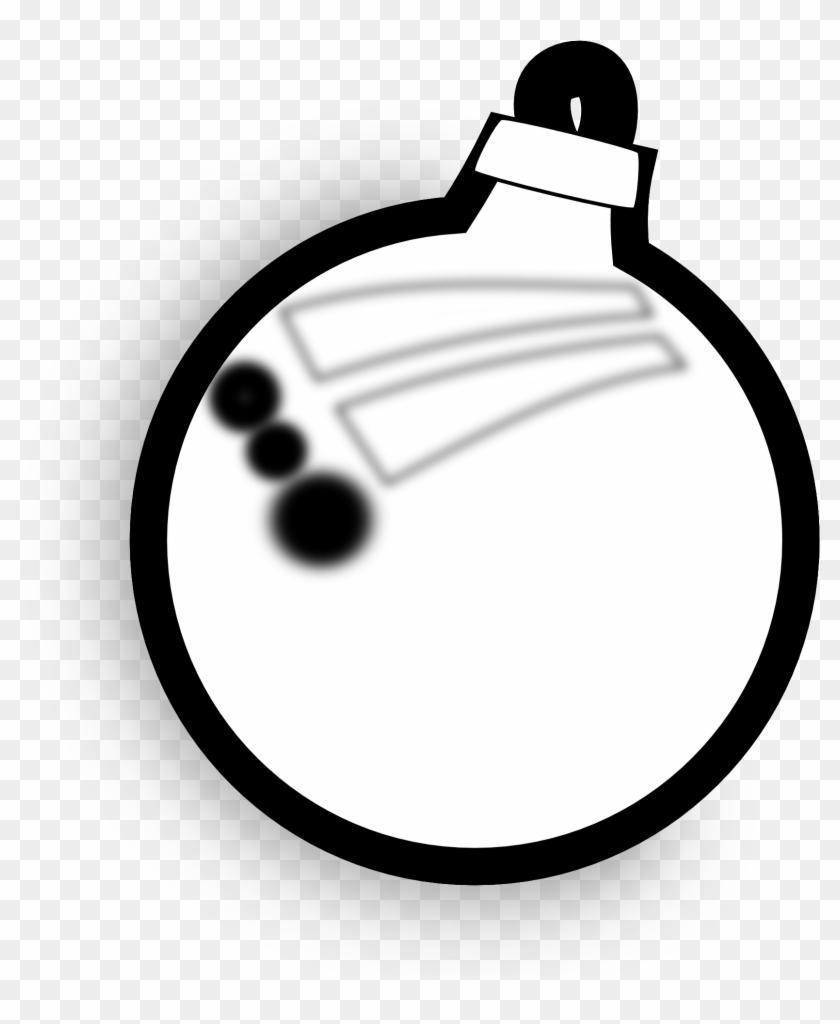 Black And White Christmas Clipart.Christmas Ornament Black And White Christmas Ornament