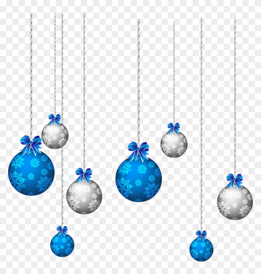 Hanging Christmas Ornament Clipart Images Pictures - Blue Christmas Balls Png #26110